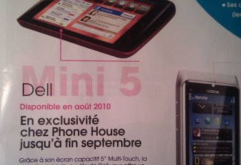 Dell Mini 5 sous Android : Bientôt chez The Phone House