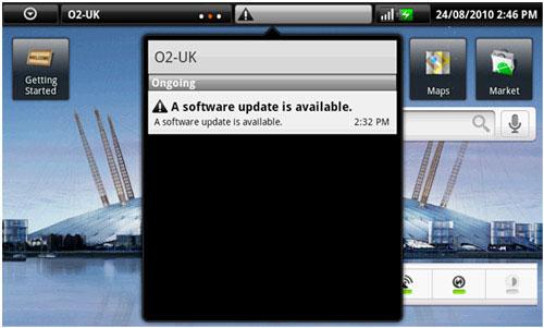 Dell Streak : La mise à jour 2.1 pointe le bout de son nez en Angleterre !