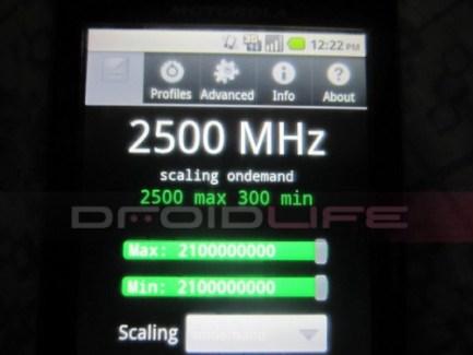 Les Motorola Droid X et Droid 2 overclockés à 2.5 GHz