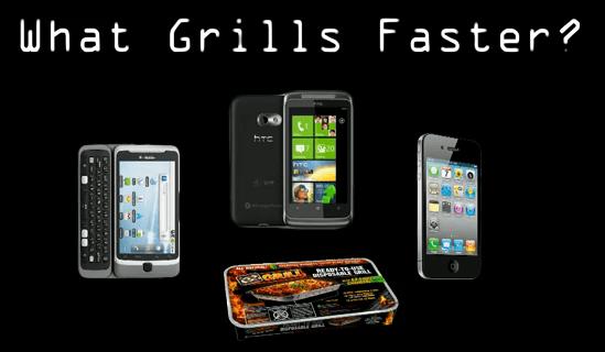 Des téléphones Android, WP7 et iPhone passent au grill (vidéo)