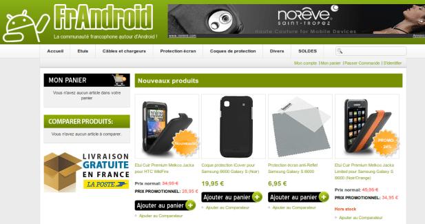 FrAndroid lance sa boutique d'accessoires Android