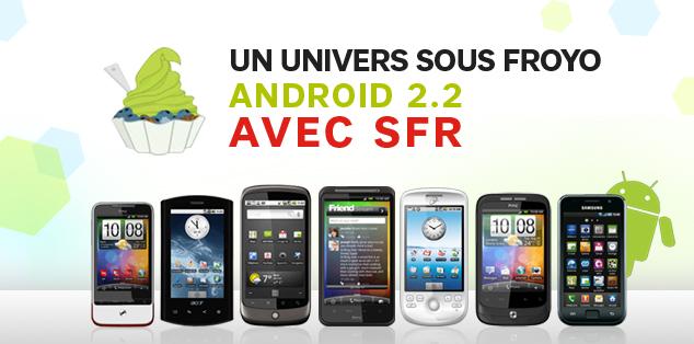 SFR : Présentation du calendrier des mises à jour des androphones