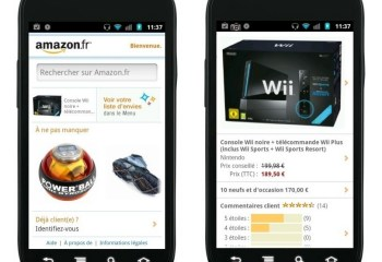 Amazon.fr, l'application disponible sur l'Android Market