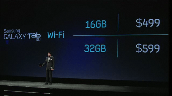 Conférence Samsung : les tablettes 10.1 et 8.9 plus fines que l'iPad 2, avec 8.6 mm d'épaisseur