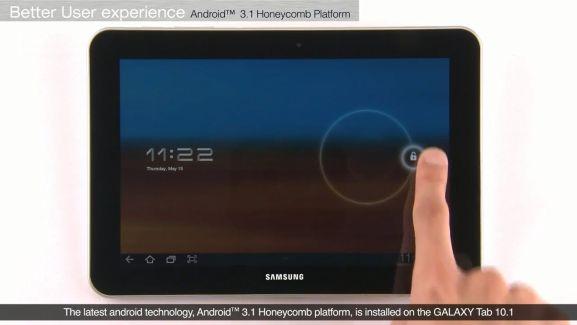 Une vidéo officielle de la Samsung Galaxy Tab 10.1 sous Android et TouchWiz