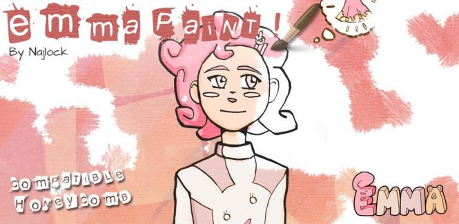 Emma Paint et Emma Tome 1 : une application de peinture et un livre pour les enfants