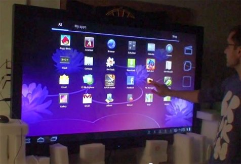 Un écran tactile géant de 65 pouces sous Android Honeycomb