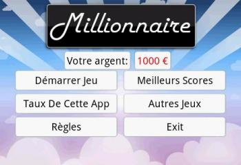 Les applications Android du jour :  Millionnaire, Go Namecard et CineShowTime