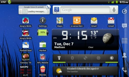 Dell livre une version officielle de Gingerbread pour sa Streak 5