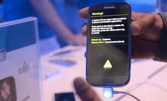 Galaxy S3 : Un mode «Download» pour installer des ROM ?