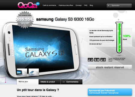Vente flash Qoqa : Galaxy S3 à 560,5 euros !