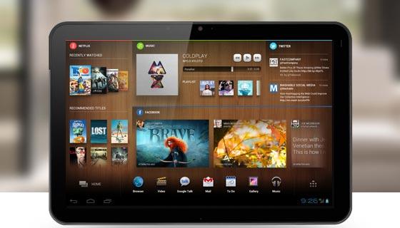 Chameleon, une démonstration de l'interface sur la Nexus 7