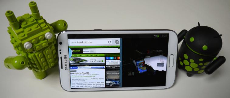 Vidéo de démonstration du multi-fenêtre sur le Samsung Galaxy Note 2