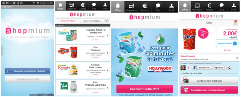 Gagnez du pouvoir d'achat grâce aux promotions privées de Shopmium sur Android