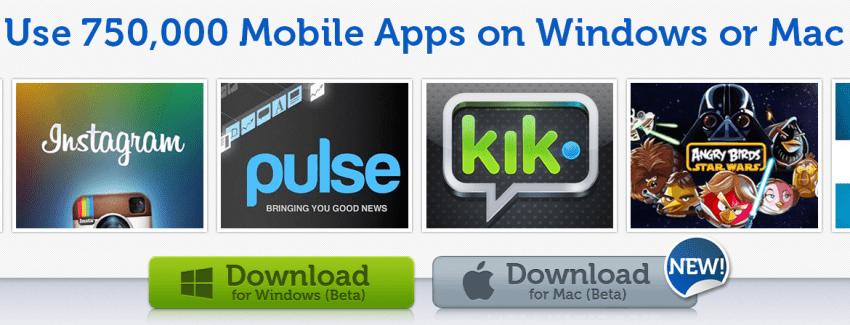 BlueStacks, faire fonctionner des applications Android sur Windows et Mac OS X