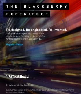 BlackBerry 10 : RIM a prévu le lancement le 30 janvier 2013