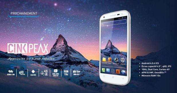 Wiko lance le Cink Peax, un smartphone à moins de 200 euros