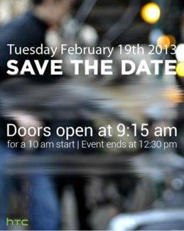 C'est officiel, HTC organise une conférence le 19 février, pour annoncer le HTC M7 ?