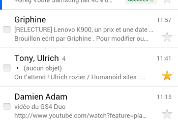 Gmail, une nouvelle interface pour la version web mobile