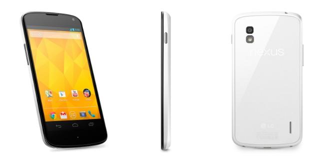 Le LG Nexus 4 blanc officialisé
