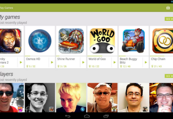 Google Play Jeux (Games) sur le Google Play