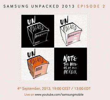 IFA 2013 : Samsung envoie des invitations pour le 4 septembre