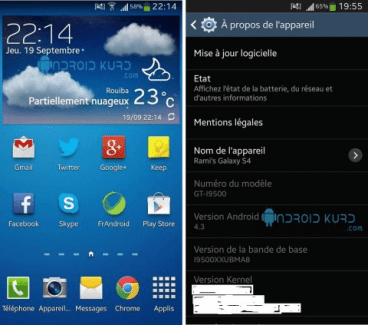 Android 4.3 Jelly Bean aperçu sur le Galaxy S4 ?