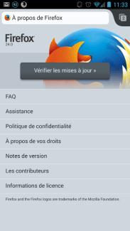 Firefox Mobile 24 : la mise à jour est disponible sur le Play Store