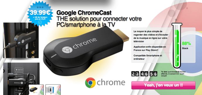 Bon plan : Chromecast sur Qoqa à 45 euros