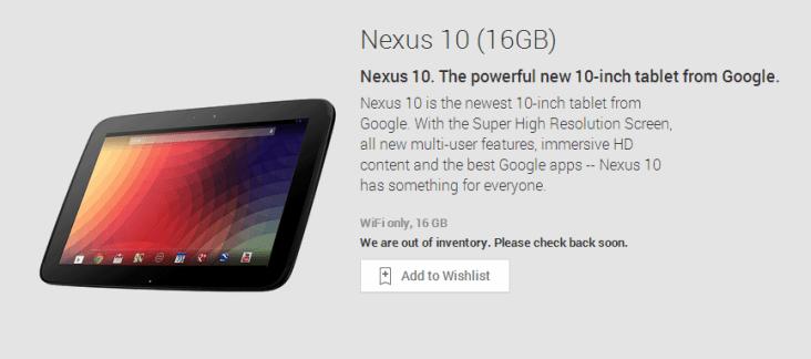 Google Nexus 10 2013 : pas de réapprovisionnement prévu pour l'édition 2012, une nouvelle sortie imminente ?