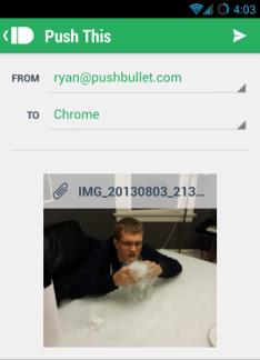 PushBullet ajoute une fonctionnalité Push-to-Chrome