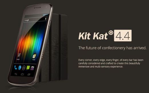 Galaxy Nexus : première ROM Android 4.4 KitKat