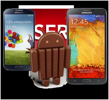 Galaxy S4 et Note 3 : SFR annonce Android 4.4 KitKat en février 2014