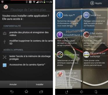 Background Defocus, l'application du Xperia Z1S disponible sous forme d'APK