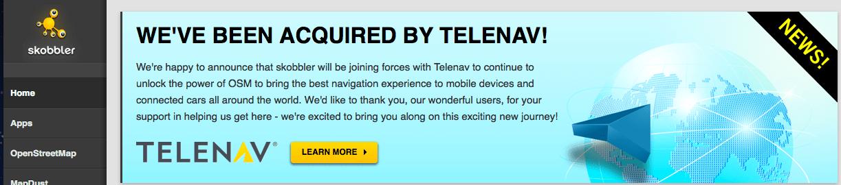Telenav s'offre Skobbler, le service de navigation alternatif utilisant les cartes OpenStreetMap