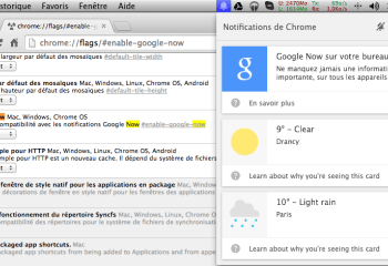 Chrome Canary s'offre Google Now en version web