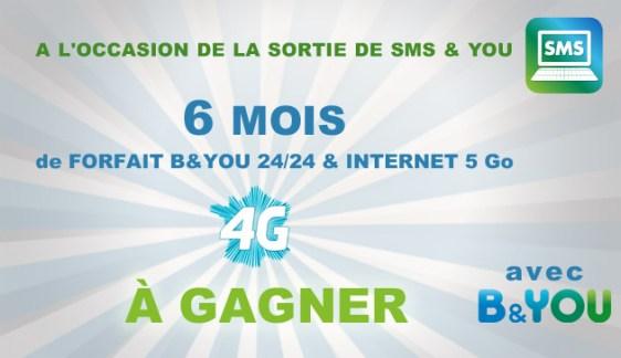 Exclu : SMS & YOU disponible gratuitement pour tous les clients B&YOU et 10 forfaits B&YOU à gagner !