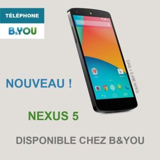B&YOU propose désormais le Nexus 5 à 349 euros