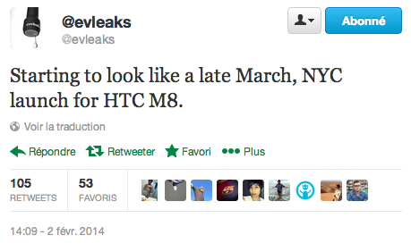 Pas de MWC pour le HTC One 2 (M8), mais un événement à New York ?