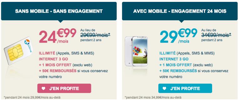 Vente Flash Bouygues Telecom : le forfait Sensation 3 Go 4G à 24,99 euros pendant 2 ans