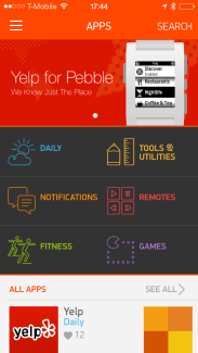 Pebble vole vers son portail d'applications officiel