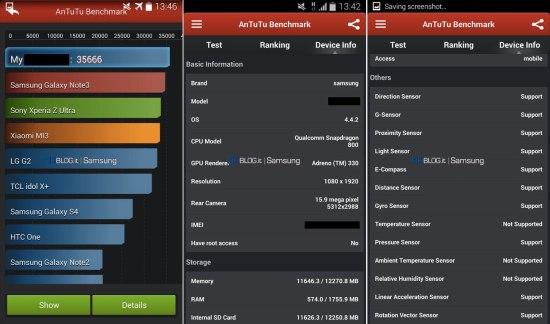 Un benchmark confirme les caractéristiques du Galaxy S5 : pas d'écran 2K à l'horizon