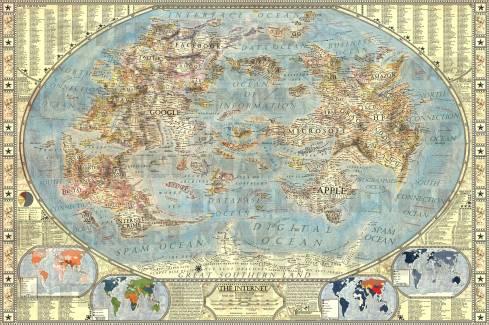 La carte d'Internet selon Jay Simons