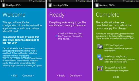 SDFix : une app pour résoudre le souci d'écriture sur la micro-SD avec KitKat