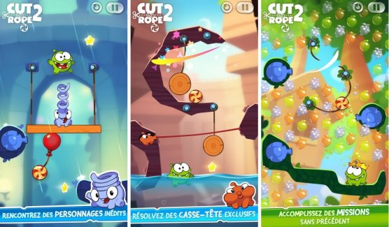 Cut The Rope 2 est disponible sur le Google Play (edit)