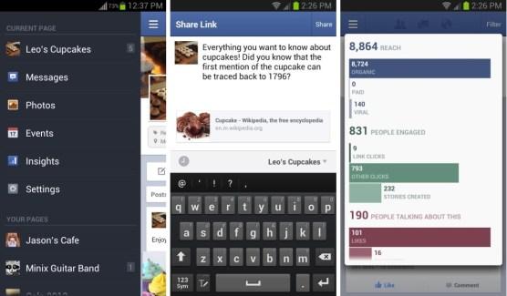 Gestionnaire de Pages : Facebook publie la version 1.10 sur Android