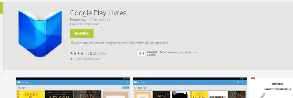 Google Play Livres : la limite d'ajout d'un fichier PDF passe à 100 Mo