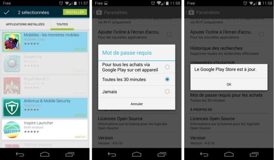 Play Store 4.6.16 : un petit point sur la sécurité (téléchargement)