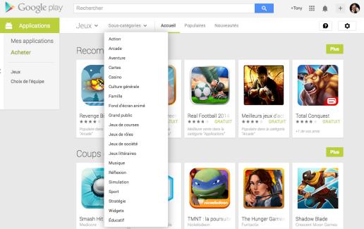 Une nouvelle catégorie «Jeux de rôles» arrive sur le Google Play