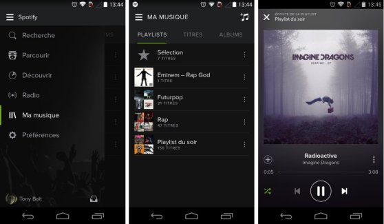 L'interface de Spotify passe du côté obscur de la force sur Android